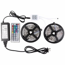 Led stripe Lights DIY Kit Nonwaterproof SMD5050 strip 10M,RGB 30led/m with 44key IR Controller Power Supply for Christmas decor