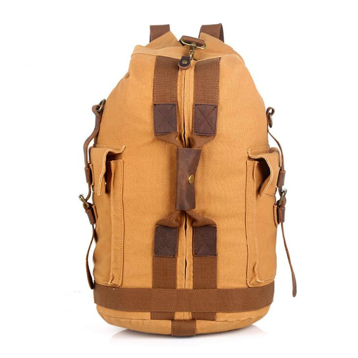yesetn 052917 new hot man canvas travel backpack male vintage canvas bag<br>