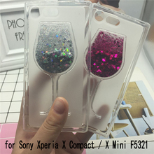 Buy Glitter Quicksand Phone Cases Sony Xperia X Compact / X Mini F5321 Case Bling Cute Soft Silicon Back Cover 3D Capa Fundas for $3.57 in AliExpress store