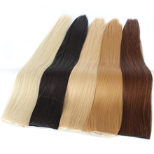 Shumeier 16Colors 24Inches Long Straight 5Clips In Hair Extensions Black Brown Synthetic Hair Clip In Hairpiece