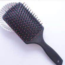 Professional Healthy Black Paddle Cushion Hair Loss Massage Brush Hairbrush Comb Scalp Cushion Brush(China)
