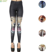 3D Leopard Face Print Pencil Trouser Punk Women Skinny Leggings Vintage Fashion Leopard Pants Harajuku Gothic Legging Slim Fit