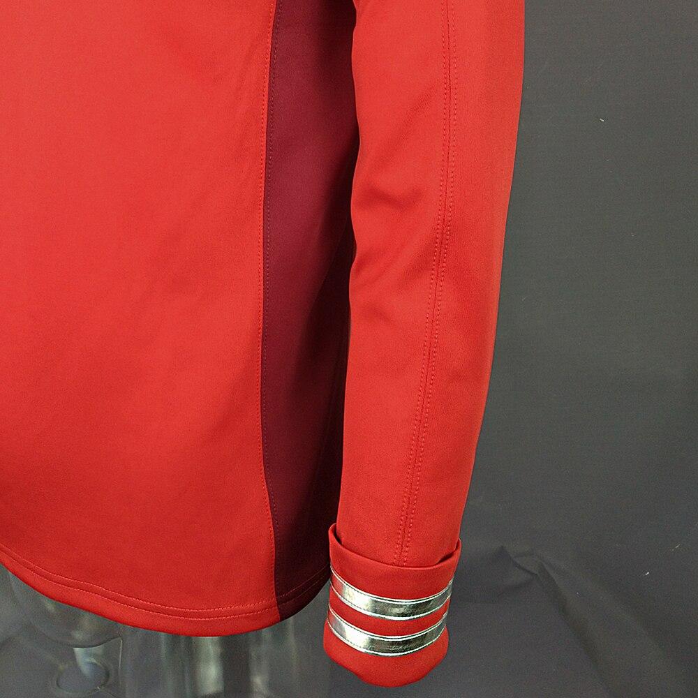 Cosplay Star Trek Costume Beyond Red Captain Kirk Uniform Spock Blue Uniform Scotty Red Halloween party Prop