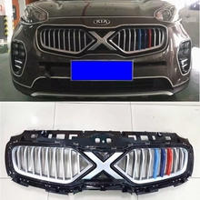 For KIA sportage front grille center grills change to X-man version fit for KIA sportage KX5 2015-2016