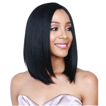 Female Wig Short BoB Wigs For Black Women Fashion Short Straight Black Synthetic Wigs Heat Resistant Cheap BoB Wigs For Women