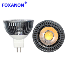 Foxanon Brand MR16 Led Spotlight COB 8-24V 12V 24V Aluminum Body MR 16 5W Lamps Spot Light Led Bulb Downlight Lighting 1PCS/LOT(China)