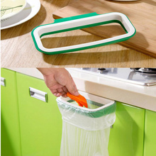 OUNEED 2017 Hot Sale Bag Hanging Kitchen Cupboard Door Back Style Stand Trash Garbage Bags Storage Holder Rack Rangement