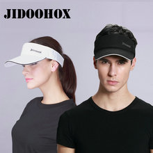[JIDOOHOX] Brands Sunscreen Baseball Hats For Men Women Empty Top Visor Sports Cap Fitted Summer Hats Bone Cap Gorras Casquette