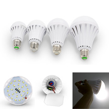 Intelligent LED Bulb 5W 7W 9W 12W LED Emergency Light Rechargeable LED Bulb Lamp E27 for Home Lights 5730smd