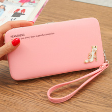 QWEEK Wallet Female Lady Long Bag Lunch Multi-color Clutch Mobile Phone Box Manufacturers Spot Wholesale Cheap Women Wallets