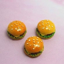 wholesale 50pcs/lot 18mm very cute 3D hamburg resin flat back cabochon for DIY candy food decoration,RF2007