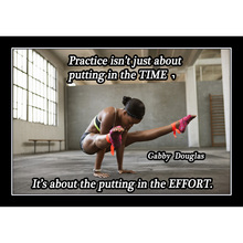 J0268- Gabby Douglas American Gymnast Hard Story Training Quotes Pop 14x21 24x36 Inches Silk Art Poster Top Fabric Print Home Wa
