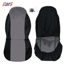 Car Seat Cover Breathable Car Front Seat Covers Cushion Pad Protective Covers for Car Seats Black/Gray/Beige
