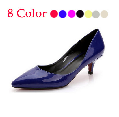 2015 33-41 Cute Low Heel Shoes for women Gold Pumps Sliver White Nude Black Pointed Toe Wedding Shoes High Heels Women Pumps<br><br>Aliexpress