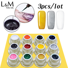 3pcs Lvmay 3D DIY UV LED Gel Paint for Nails Soak Off Painting Gel Nails Polish Color Acrylic Kit Gel Varnish UV Gel Nail Polish(China)