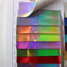 Laser flash mirror leather fabric shoe bag colorful glossy handmade DIY holographic sofas direct factory/ leather fabric yard