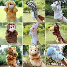 Hand Puppets Plush Puppets Elephant Cow Cat Mouse Monkey Plush Doll Children Educational Toys Brinquedo Marionetes Fantoche