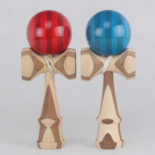Good Quality 2 styles Skill Toy Ball bamboo kendama juggle game ball jade sword  ball for adult japanese traditional toy