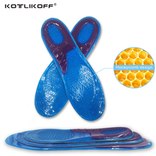 KOTLIKOFF Silicone Gel Insoles Orthotic Arch Support Massaging Anti-Slip Gel Soft Sport Shoe inserts Insole Pad For Man Women(China)