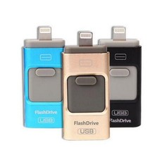 2in1 Newest OTG USB Flash Drive 8GB 16GB 32GB  64GB For IPhone IPad,Disk On Key Pendrive Mini Memory Stick Flash Card