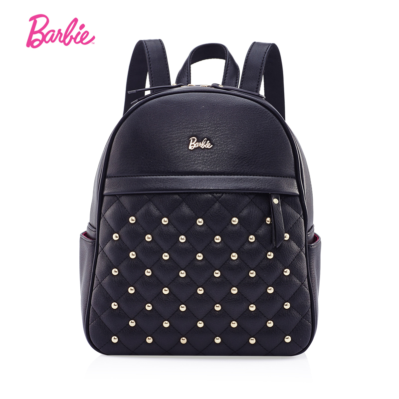 Barbie Women backBags lively style girls PU leather shoulder bags Student Bag Fashion Trend Brief Bag For young Ladies<br>
