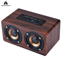 Aniwk Retro Wood Wireless Bluetooth Speaker Portable Speaker bluetooth altavoz Mini 3D Dual Loudspeakers USB Charging enceinte