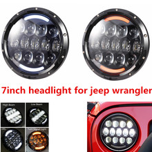 DOT E9 Mark 7inch LED Car Headlight With Hi/lo Beam Front Offroad Driving Headlamp 7'' Headlight Led For Jeep Wrangler Defender