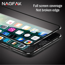 NAGFAK 3D Aluminum alloy Full Tempered glass For iphone 6 6S 7 Plus 5 5S SE Screen Protector For iPhone 7 7 Plus Protective Film(China)