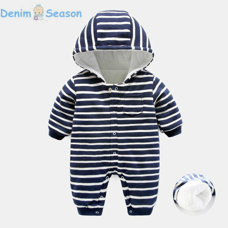 DenimSeason 2018 Baby Boy Romper Baby Jumpsuit Baby Onesie Baby Clothes Newborn Clothes Baby Rompers Newborn Costume Stripe Thin<br>