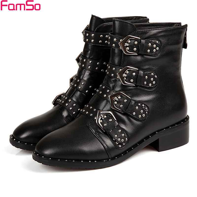 Online Get Cheap Black Rivet Boots -Aliexpress.com | Alibaba Group