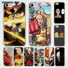 MOUGOL Anime Bleach One Punch Man design hard clear Case Cover for Apple iPhone 7 6 6s Plus SE 4s 5 5s 5c Phone Case(China)