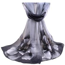 Fashion Women Long Soft Wrap Scarf Ladies Shawl Chiffon Flower Printing Scarves