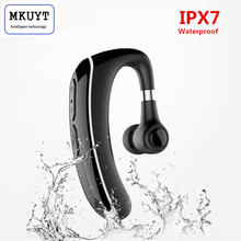Buy MKUYT Handsfree Business IPX7 Waterproof Bluetooth Headphone Mic Voice Control Wireless Bluetooth Headset Phones for $19.31 in AliExpress store