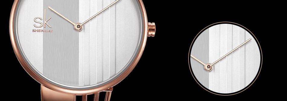 ساعة اليد سوار كوارتز  مطلية بالذهب 14