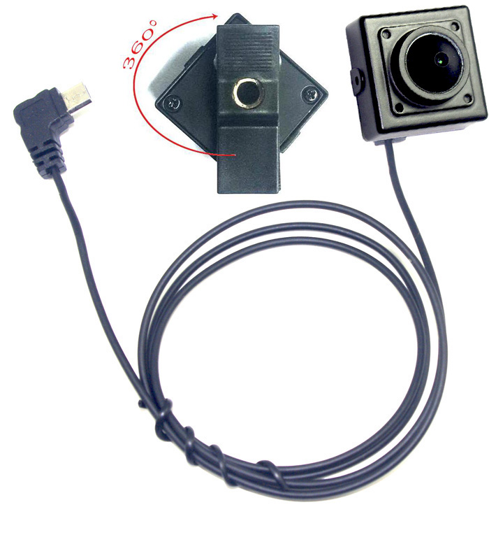 2.0 MP Wearable On Clip External Miniature Camera for USB OTG Compatible Android Smartphones<br>