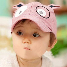Feitong Cute Children Baseball Cap Kids Boy Girl Dog Pattern Hat Peaked Spring Summer Cotton Caps for Kids Fashion Casquillo
