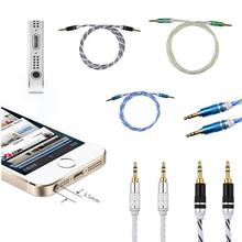2016 HOT SALE 3.5mm Jack Male to Male Car Aux Auxiliary Cord Stereo Audio Cable for Phone iPod very nice Vicky(China)