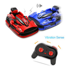 2PCS New RC Bumper Cars 2.4G 4CH Bumper Racing Car Game Boys RC Toy Remote Control Carro RC Electric Car Radio Control Vehicles(China)