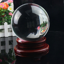 Clear Crystal Magic Glass Healing Ball Sphere 40mm Home Decoration Office Room Desk Ornaments Photography Props Gifts for Kids