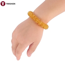 1 Pcs Acupuncture Bracelet Wrist Massager Supplies Relaxation Stainless Steel Wrist Hand Massage Ring Health Care Tool