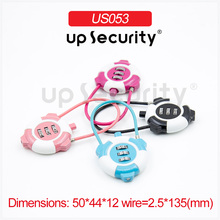 Cable combination lock steel wire password locks Travelling Bag/Laptop Bag/Drawer/Suitcase Safe Coded Lock mini Padlock