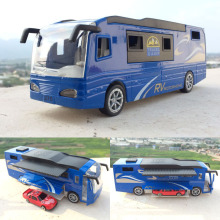 High simulation Travel bus,1:50 scale alloy pull back super RV and sedan,metal toy bus,free shipping
