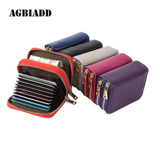 Buy Fashion Brand RFID Genuine Leather Women Business Card Holder Wallet Bank Credit Card Case ID Holders Female Cardholder for $8.75 in AliExpress store
