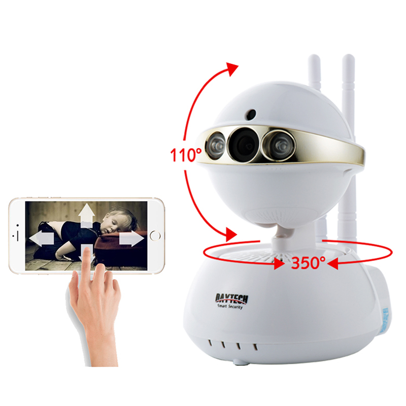 Daytech WiFi IP Camera Home Security Camera Wi-Fi Two Way Intercom 720P Night Vision CCTV Surveillance Monitor Pan Tilt DT-C104<br>