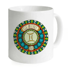 Gemini Circle Art Zodiac Pisces Sagittarius Scorpio Aries Gemini Cancer Porcelain Ceramic 11oz Coffee Mug Hot Coffee Milk Cup
