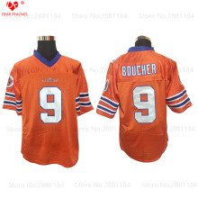 Adam Sandler Movie Mens Cheap THE WATERBOY American FOOTBALL JERSEY #9 Bobby Boucher Jersey Retro Stitched Orange Shirt