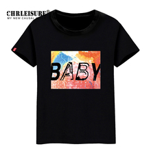 CHRLEISURE S-XXL Women T-shirt Baby Print Summer Tops Cotton Big Size Casual Tshirt Fashion Letter T Shirt Wholesale(China)