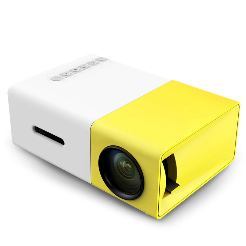 AAO YG300 YG-300 LCD LED Portable Projector Mini 400-600LM 1080p Video 320 x 240 Pixel Media LED Lamp Player Best Home Protector<br>