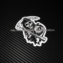 Hot sale Sons Of Anarchy helmet motorcycle Sticker Decals Waterproof 12(China)