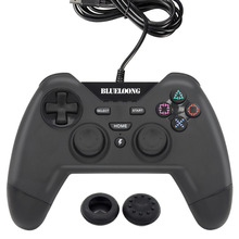 2017 New blueloong USB Black Color Wired Joystick Gamepad For Playstation 3 PS3 Controller PC + Free Shipping(China)